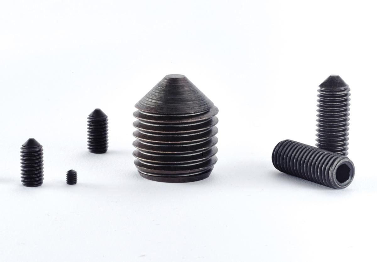 Gewindeschrauben Edelstahl A2 V2A rostfrei M10 x 20 mm Gewindestift mit Innensechskant und Spitze 10 St/ück Eisenwaren2000 ISO 4027 - Madenschrauben DIN 914